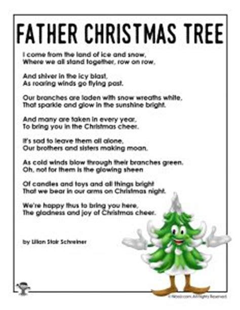 christmas tree poems for children poems for woo jr activities