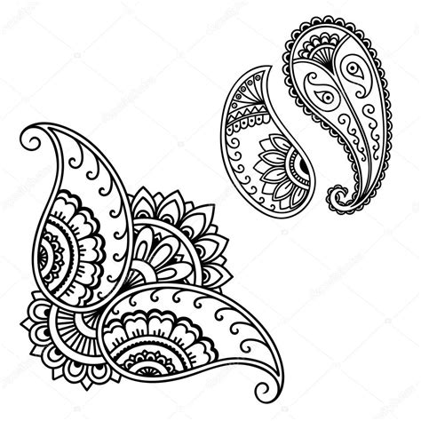 henna tattoo hand vorlagen henna flower template mehndi stock vector