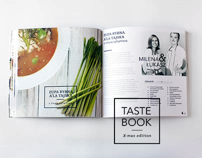 ebook cookbook template tastebook on behance