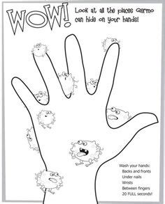 preschool germ coloring pages 1000 images about germ theme on pinterest hand washing