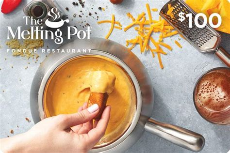 Where To Buy Melting Pot Gift Cards - fondue gift card 100 the melting pot restaurant