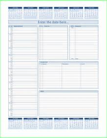 Free Daily Planner Template by Resume Business Template Free Daily Planner Template