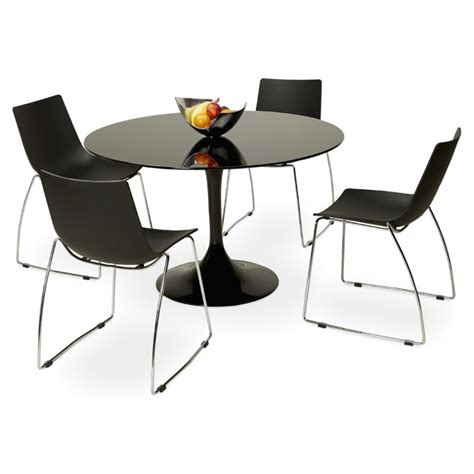 Table Ronde Noir by Table Ronde Design Marjorie En Verre 216 120 Cm Noir