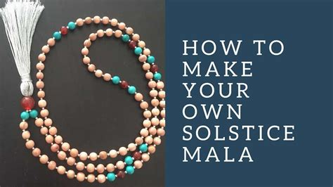 how to make mala summer solstice mala necklace adventure yogi