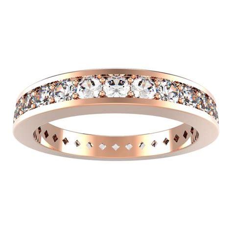 Diamond Eternity Ring in 14k pink gold (0.84 ct. tw.), #985