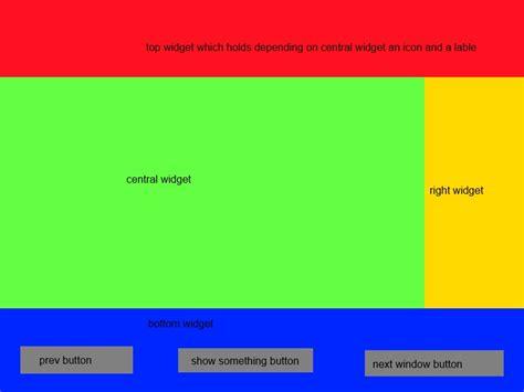 qt layout top qt mainwindow application