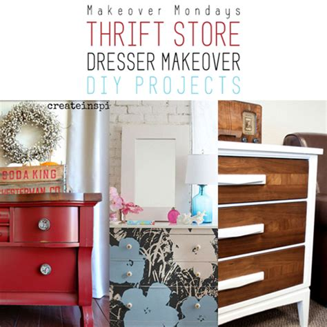 thrift store diy projects makeover monday thrift store dresser makeover diy