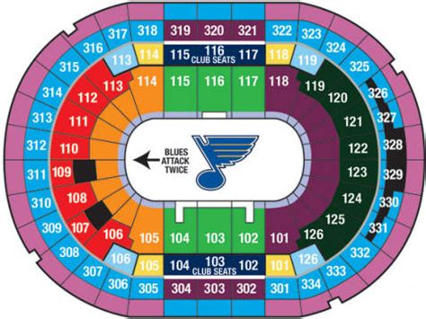 stl stadium seating chart nhl hockey arenas scottrade center home of the st