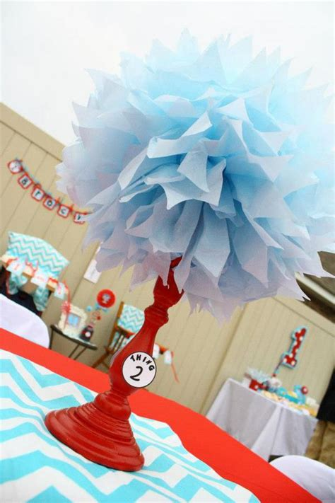 baby shower ideas for decorations dr seuss theme kara s ideas thing one thing two dr seuss themed