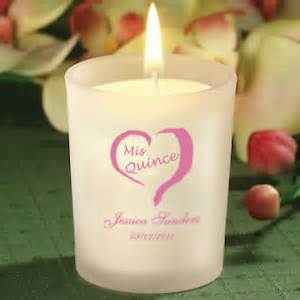 Quince Favors by Personalized Quinceanera Favor Candles