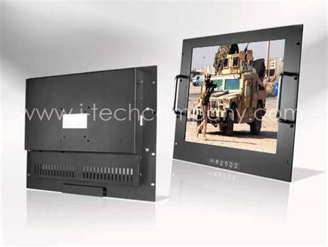 rack mount vga monitor 9u rack mount 19 quot lcd monitor 1280x1024 led 250 nits vga input w resistive touch screen