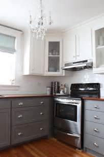 Two Tone Cabinets Kitchen Modern Two Tone Cabinets Reveal