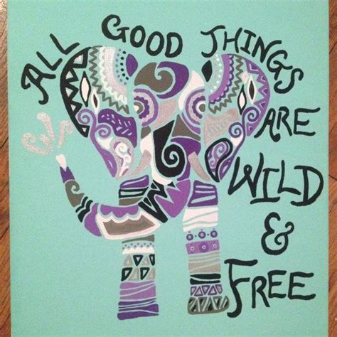 acrylic paint quotes tribal elephant and quote on canvas acrylic painting