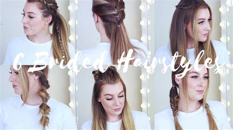 heatless hairstyles 6 cute easy braided heatless hairstyles zoe mountford