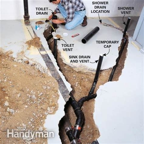 Plumbing Show by How To Plumb A Basement Bathroom The Family Handyman