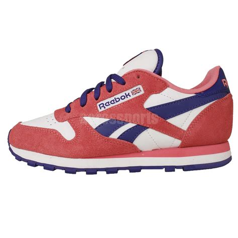 Sale Now Sepatu Running Reebok Classic Import reebok cl leather seasonal i classic pink purple womens retro running shoes ebay