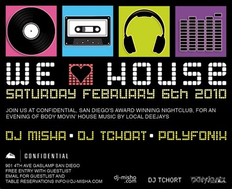 house music flyer house music event flyer designs and recent events for dj misha san diego dj for