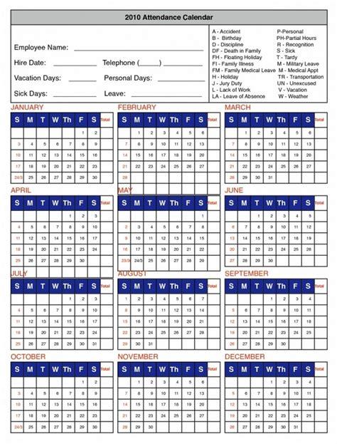 employee calendar template printable 2017 employee attendance calendar calendar