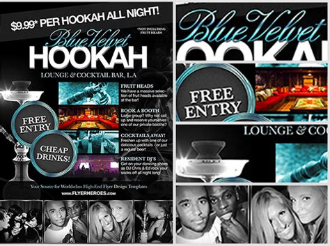 Design Your Own Home Bar free hookah lounge flyer template