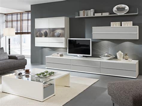 wohnzimmer weiss grau holz loddenkemper kito 9830 wohnwand 5 teilig wohnzimmer neu