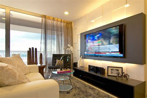 modern living room decorating ideas for apartments i like how the tv is mounted on the colored panel could