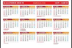Kalender Islam Tahun 2018 Gratis Kalender 2018 Pdf Lengkap Libur Nasional Dan