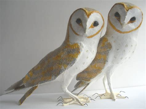 How To Make A Paper Mache Owl - my owl barn lise koehler paper mache sculptures