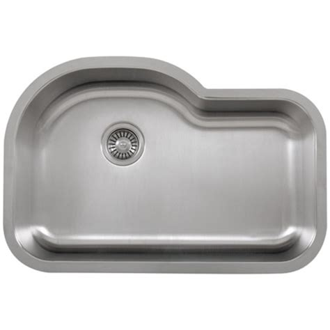 Ticor S113 Undermount 16 Gauge Stainless Single Bowl Ticor Kitchen Sinks