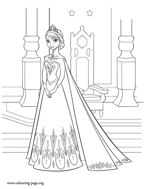 queen elsa coloring pages free frozen elsa queen of arendelle coloring page