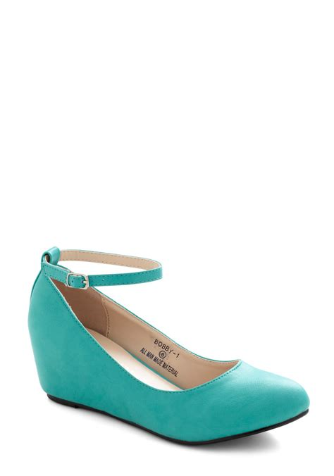 teal shoes take a stride with me wedge in teal wacoz