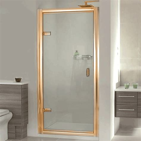 Gold Shower Doors Aqata Exclusive Es200 Hinged Shower Door In Gold