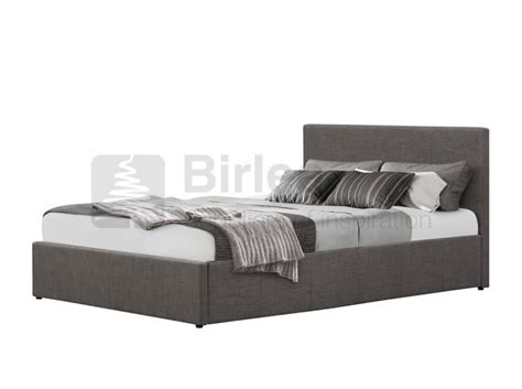 Grey Ottoman Bed Birlea Berlin 4ft Small Grey Fabric Ottoman Bed By Birlea