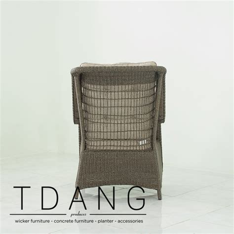 wicker chair with ottoman elise relax wicker chair with ottoman tdang furniture
