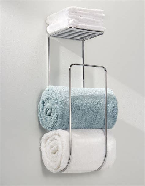 Bathroom Towel Storage Wall Mounted Bathroom Towel Rack Shelf Organizer Wall Mounted Holder Hotel Bath Storage Caddy Shelf