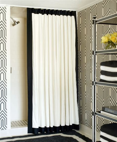 black and white drape creative black and white patterned curtain ideas