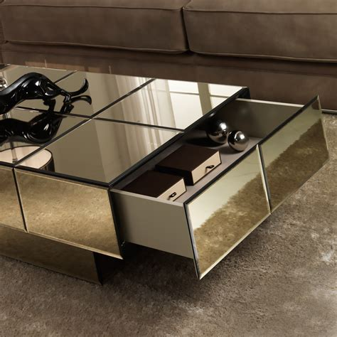 bronze glass coffee table italian designer bronze glass storage coffee table