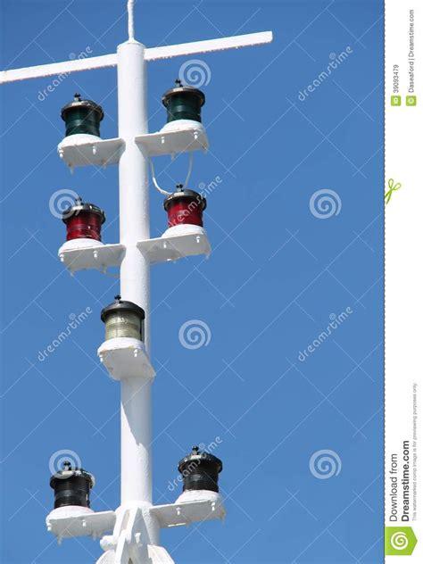 boat mast lights navigation lights stock image image of vessel signals