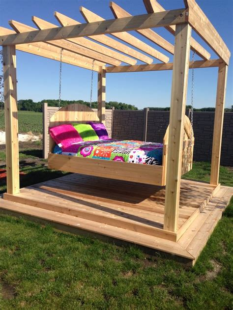 outdoor swinging bed outdoor swing bed crafts pinterest outdoor swing