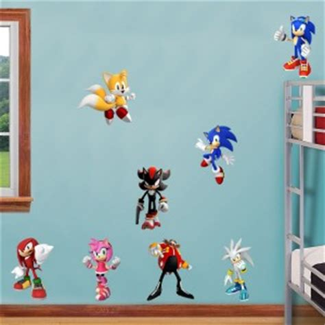 sonic wall stickers sonic hedgehog 8 characters decal removable wall sticker decor free shipping ebay