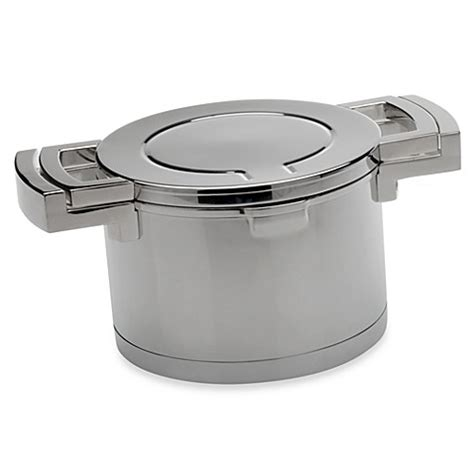 hot plate bed bath and beyond berghoff 174 neo 4 quart stainless steel covered casserole