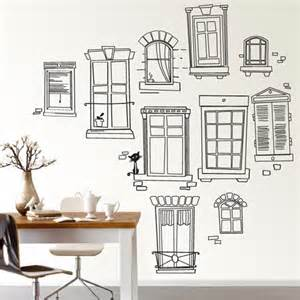 Window Wall Sticker Paris Window Wall Decal Lushlee