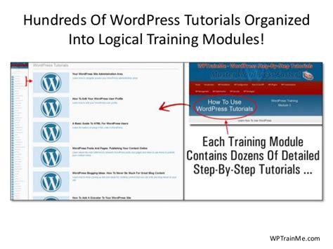 wordpress tutorial step by step best wordpress step by step tutorials plugin wptrainme
