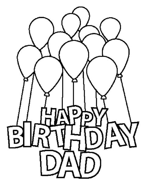 printable birthday cards to color for dad happy birthday daddy coloring pages free printable happy