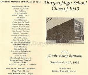 class reunion program template index of 1945to1949