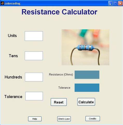 resistor color code calculator descargar gui for resistance calculations file exchange matlab central