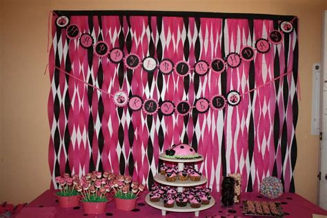 Pink And Black Birthday Decorations by Birthday Decorations Pink And Black Image