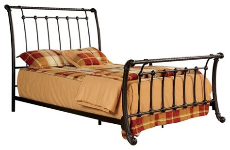 Brushed Metal Bed Frame Rope Twist Design Brushed Bronze Size Metal Bed Frame Panel Beds By Redchairfurniture