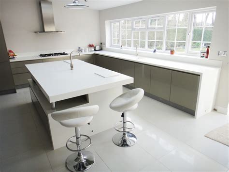 White Solid Surface Worktop White Corian Kitchen Worktop