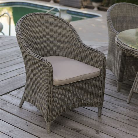 Wicker Patio Dining Chairs by Mingle All Weather Wicker Patio Dining Chair Set Of 2