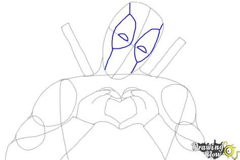 how to draw deadpool drawingnow